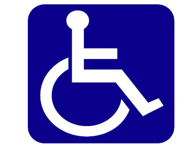 Disabled Sign Square